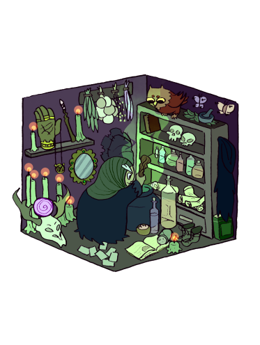 Witch Cabin transparent