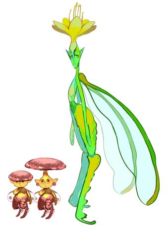 fairy goblin game sketches 1