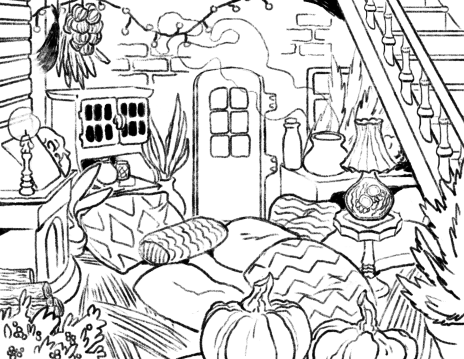 Witch's hut Commission WIP 1